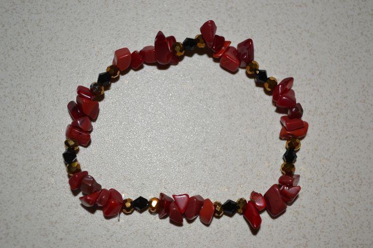 bracelet en corail rouge, Opale Isis, Christine Monsion
