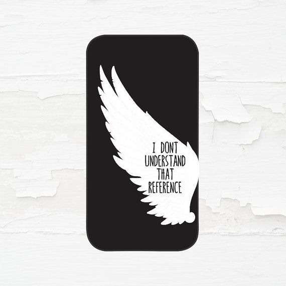 Supernatural Castiel Cell Phone Case - iPhone Case - iPod Touch 5 Case - Samsung Galaxy Case