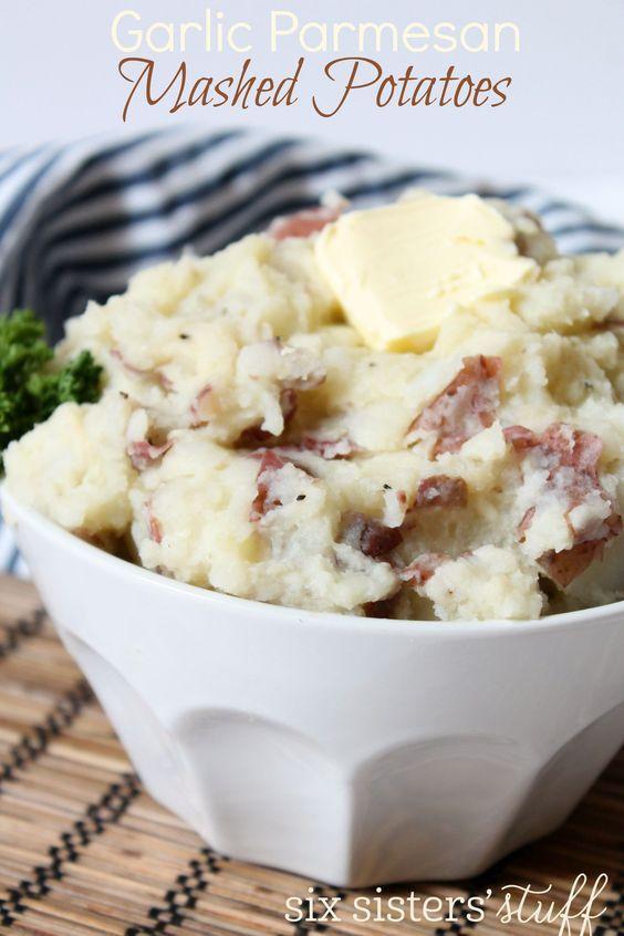 Garlic Parmesan Mashed Potatoes | Six Sisters' Stuff
