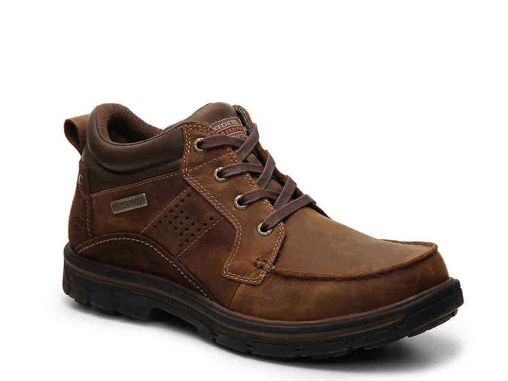 Skechers Mens Melego Boots Relaxed Fit Waterproof Leather Lace-up size 8 NEW 59.99 https://www.ebay.com/itm/253320724415