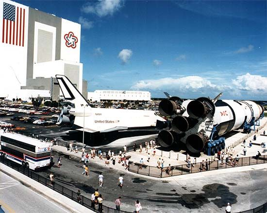 Space shuttle Enterprise and Saturn V rocket, Kennedy Space Center, Florida