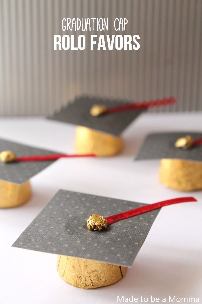 Graduation Cap Rolo Favors - Made To Be A Momma