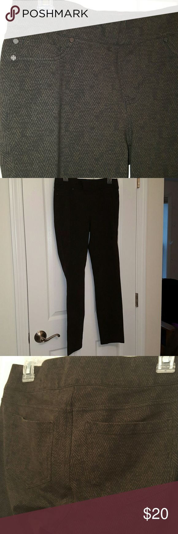 Chevron Pants Used, jegging material,  stretchy Liverpool Jeans Company Pants
