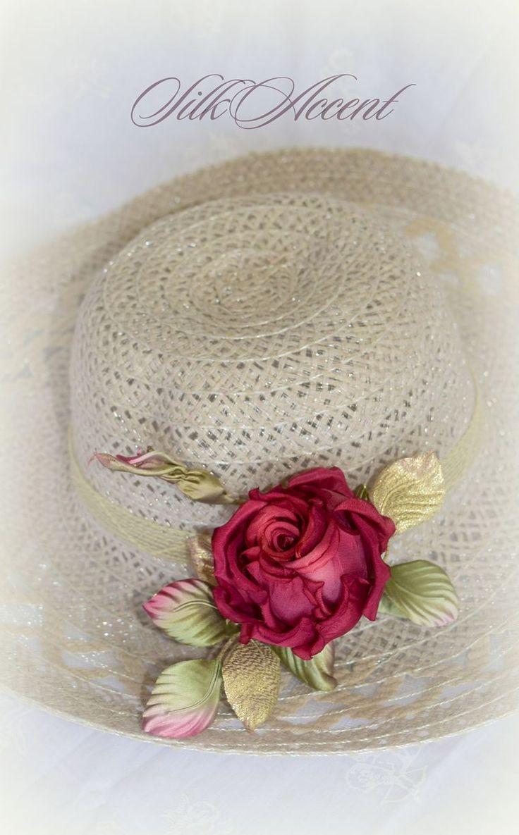 шляпа с цветами, лето, купит шляпу с цветами