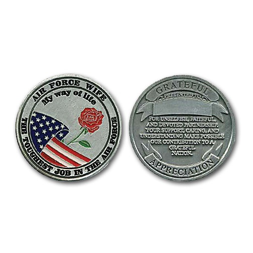Air Force Wife Coin - I hope I get coined with this one day