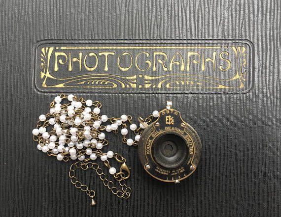 Antique Kodak Folding Camera Early 1900's Shutter Pendant