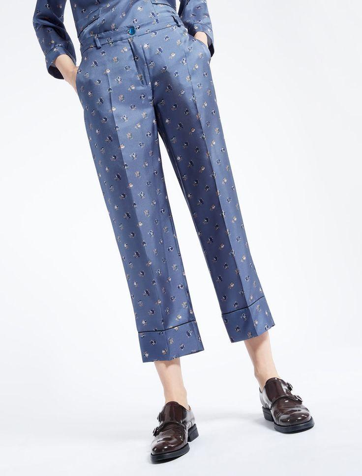 Pantaloni in twill di seta Weekend Maxmara