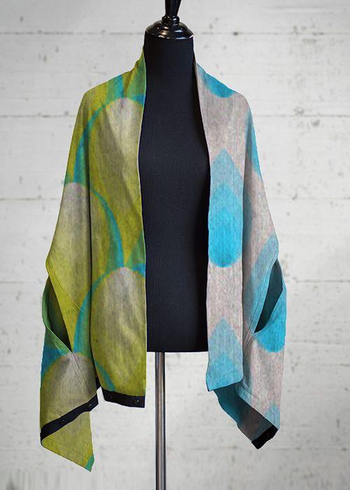 Cashmere Silk Scarf - butterfly blue2 by VIDA VIDA 2LDIY