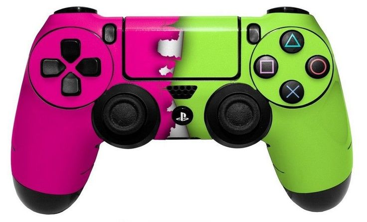 Plastation 4 PS4 Controller Skin Vinyl Ripped Decal Color Skin Pink Neon Green