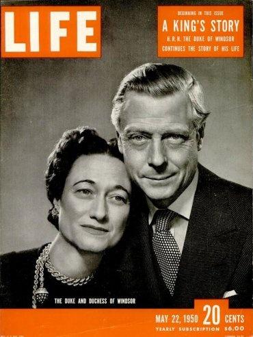 May 22, 1950, cover of LIFE magazine featuring the Duke and Duchess of Windsor. | DukeOfWindsor #Duke #Duchess |