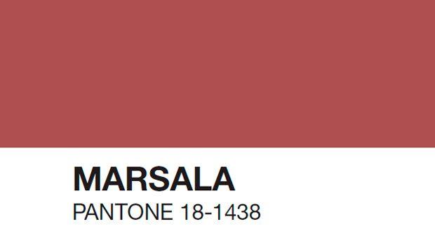 Pantone revealed color of 2015: PANTONE 18 1438 Marsala