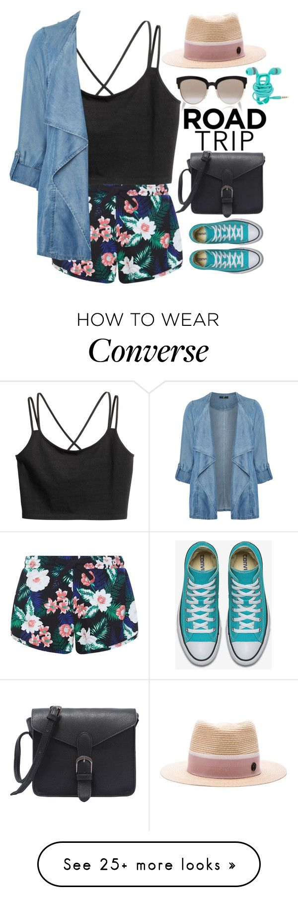 """""""Untitled #288"""" by xo-panda-xo on Polyvore featuring New Look, Evans, Christian Dior, Maison Michel, roadtrip and plus size clothing"""