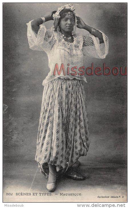 ALGERIE - Femme Mauresque - Bijoux - Dos Vierge - 2 Scans - Algeria
