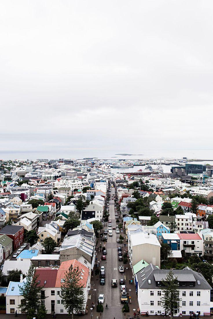 View from Hallgrímskirkja Church tower in Reykjavik, Iceland