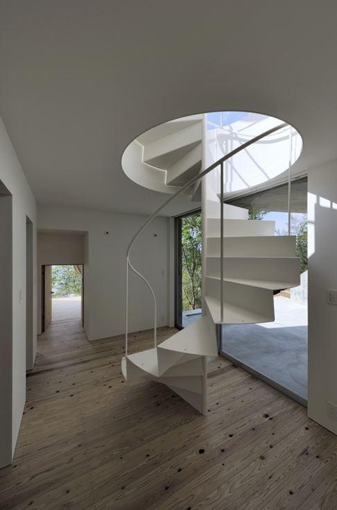 Folded metal spiral stair