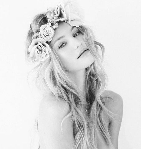 floral headpiece @Alex Jones Jones Jones Coppens