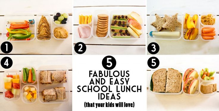 5 delicious and easy school lunch ideas that your kids will probably even love too!