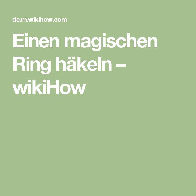 Einen magischen Ring häkeln – wikiHow