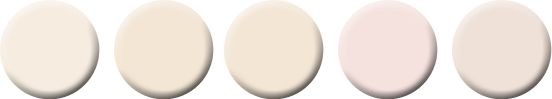Palest of Pinks - Benjamin Moore's Antique White, Evening White, Onyx White C2 Paint's Sashay, Wink California Paint's Vanilla Blush Farrow& Ball's Pink Ground