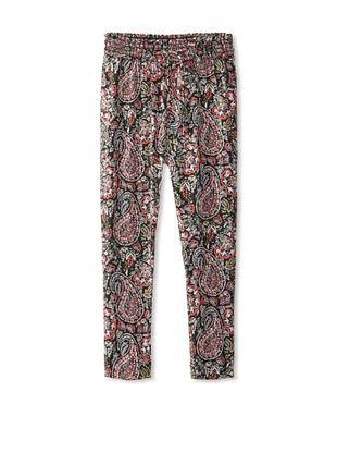 63% OFF Vintage Havana Girl's 7-16 Printed Harem Pants (Black Paisley)