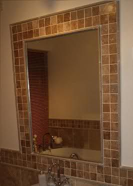 tile around mirror morphs into tile border