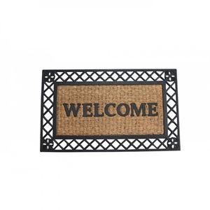 Bold Border Welcome Mat  #shop #shopping #online #poppinshoppin #USA #Canada #nyc #blank #retro #design #art #old #disjunct #decoration #paper #vintage #margin #style #antique #vector #industry #ornate #movie