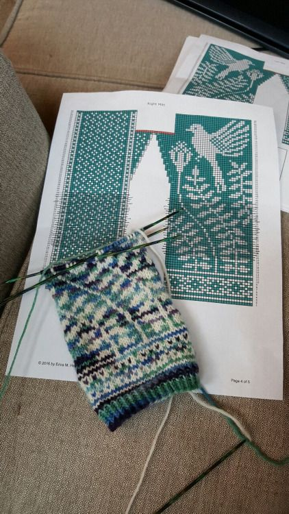 "yarnaddiction: "" hatandsandalsguy: "" hiddenmeadowcrochet: "" redadhdventures: "" Since I finished my wedding shawl, I can finally get back what I love doing with knitting - colorwork mittens. "" "" Sweet packaged stone fruits this is intense! That is..."