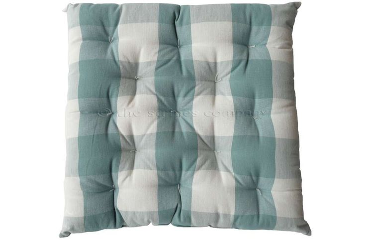 Gingham Seat Pads Teal And White Large Check Chair