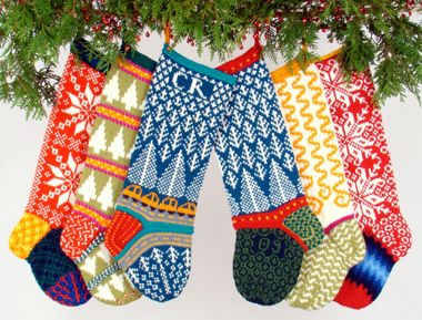 Hand-Knit Wool Christmas Stockings