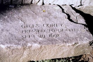 Salem Witch Trials Memorial - Giles Corey. #salemwitchtrials