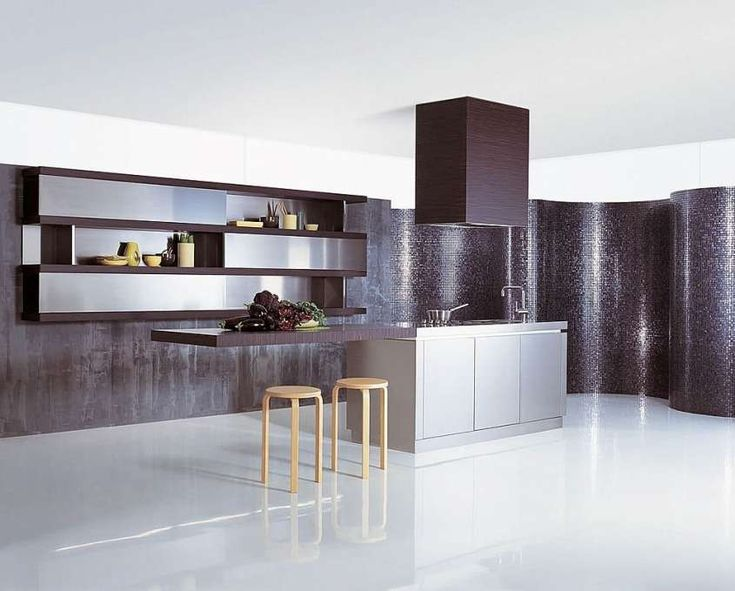 Cucine di lusso moderne - Cucina di lusso moderna, colori scuri ed eleganti