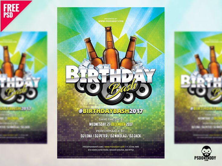 Birthday Flyer Free PSD by Free Download PSD