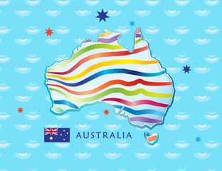 australia day flag vector