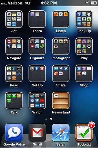 This great article helped my find my apps on my Iphone by