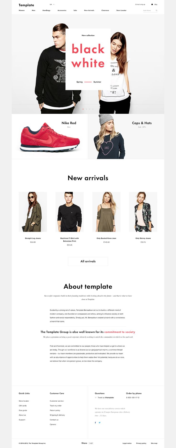 Shop Template free PSD on Behance