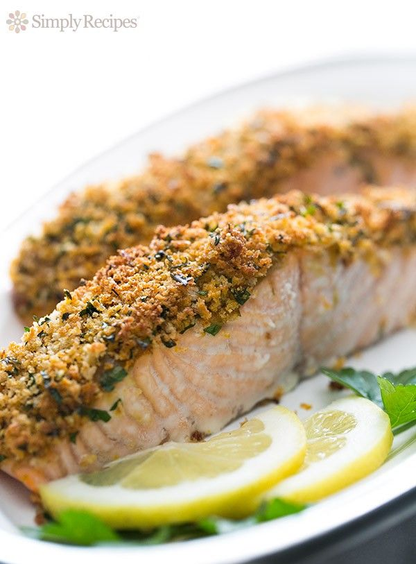Panko-crusted baked salmon! Salmon steaks or fillets ...
