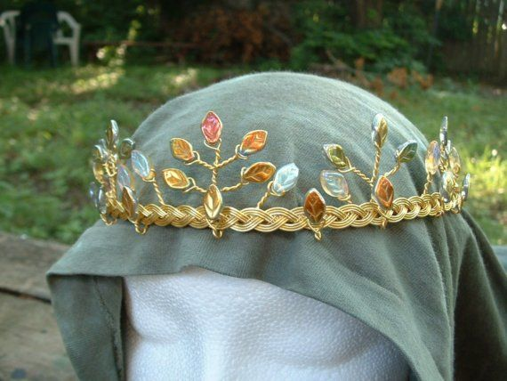 Irish Celtic Wedding Tiara in the style of Fairy by PernCirclets. , via Etsy.
