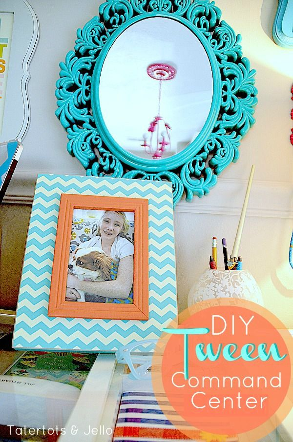 I want this bedroom!  The DIY Tween Command Station is perfect for anyone! via @jenjentrixie