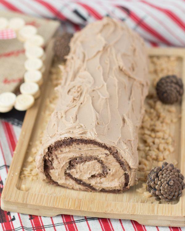 Objetivo: Cupcake Perfecto.: Tronco de Navidad de Nutella