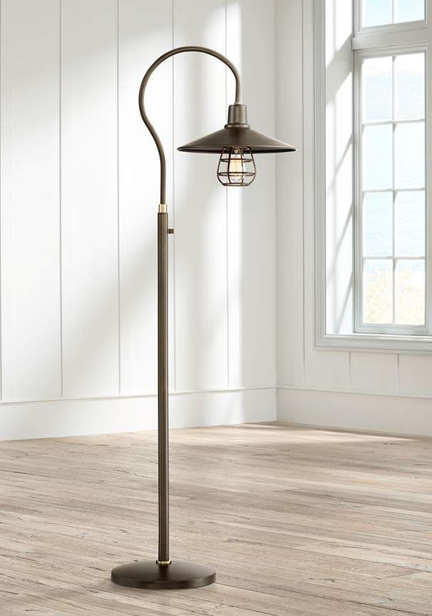 Garryton Industrial Oil-Rubbed Bronze Floor Lamp - #9M658 | Lamps Plus