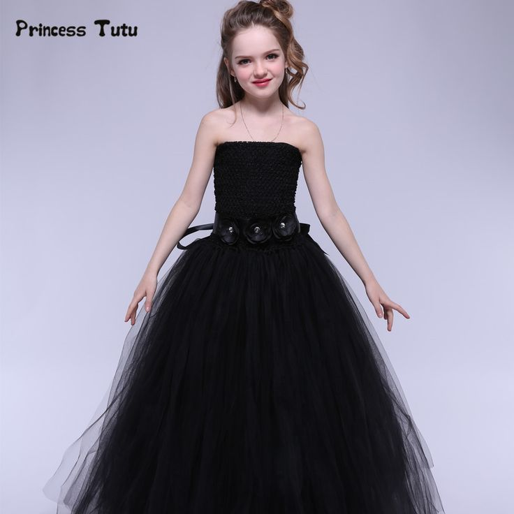 19.31$  Watch here - http://aliu11.shopchina.info/1/go.php?t=32795377597 - Newest Tulle Girls Dress Black Baby Kids Tutu Dress Princess Party Ball Gown Children Pageant Birthday Dresses Halloween Costume  #magazineonline