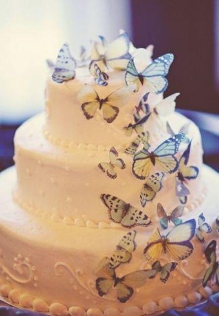 Tortas para Bodas con Mariposas 20