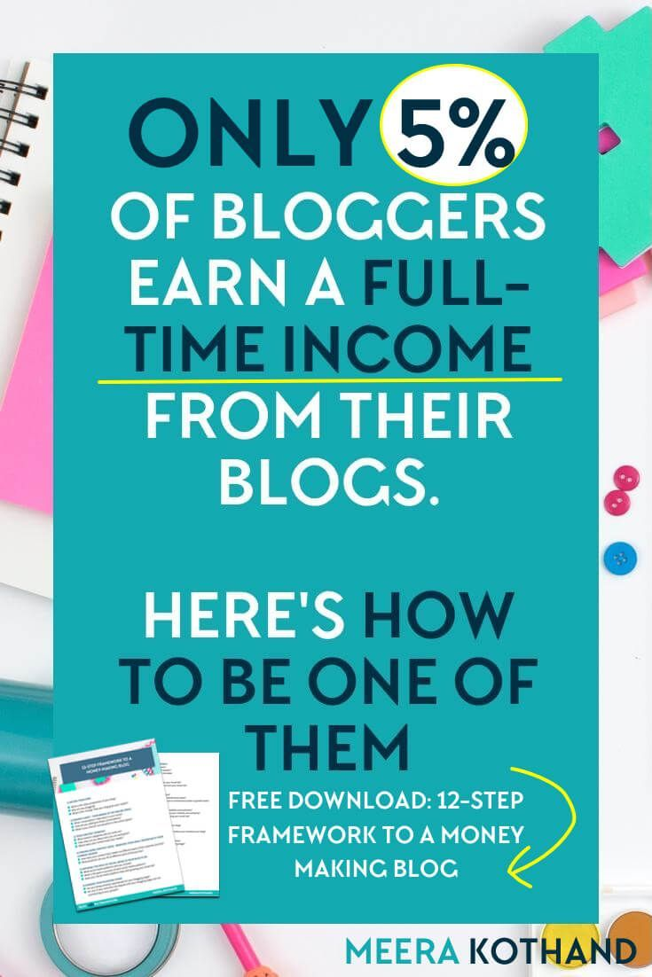 Are you looking for ideas and tips to make money from your blog? Did you know that just 5% of bloggers earn a full time income from their blogs? In this post I share some ideas and tips on how you can be one of them and share a simple framework you can download that will help you set a solid foundation to a money making blog.