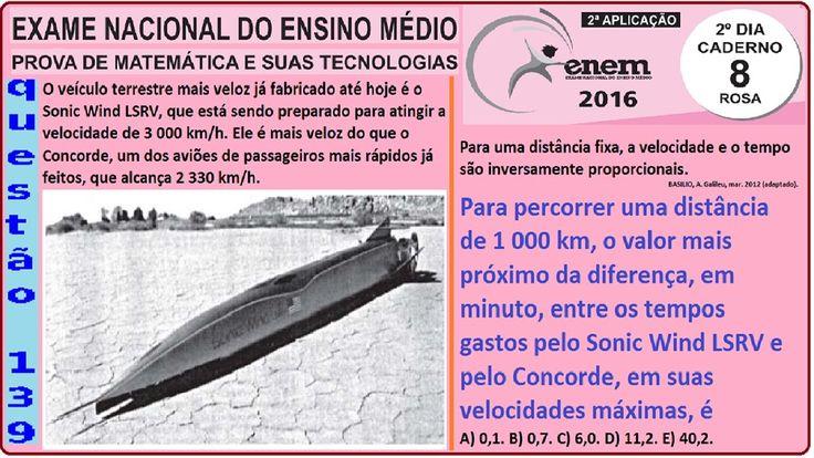 CURSO MATEMÁTICA ENEM 2016 QUESTÃO 139 PROVA ROSA RESOLVIDA EXAME NACION... https://youtu.be/5VXFkCnmrXM