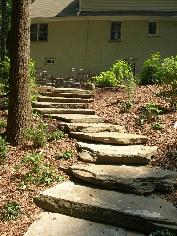 Building Stone Steps And Walkways : Another sloping walkway idea ideas pinterest