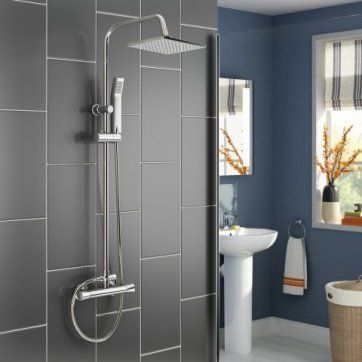200mm Square Head - Thermostatic Shower [PT-SP1012] - £99.99 : Platinum Taps & Bathrooms