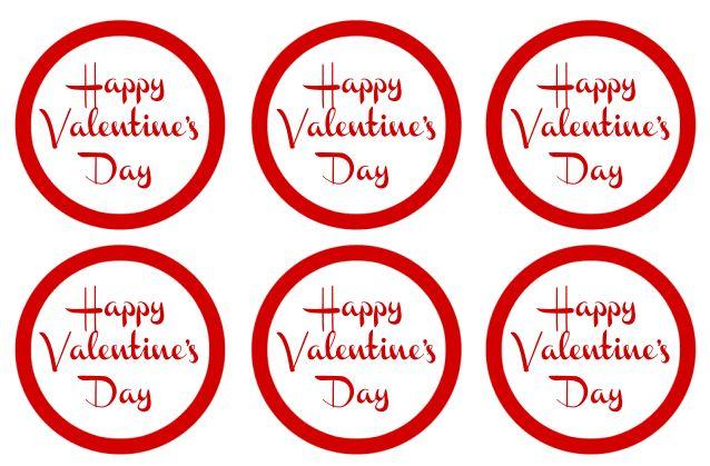 Free Printable  DIY Valentine Labels