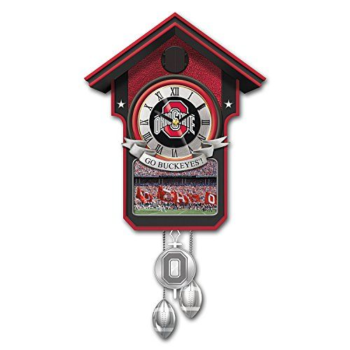 ohio state university buckeye wallhanging cuckoo clock by the bradford exchange visit the - Feldstein Kaminsimse