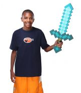 Defeat the creepers and zombies in your Minecraft world with your rare Diamond Sword!  Capable of destroying most mobs with a single hit, ... #minecraft #diamondsword