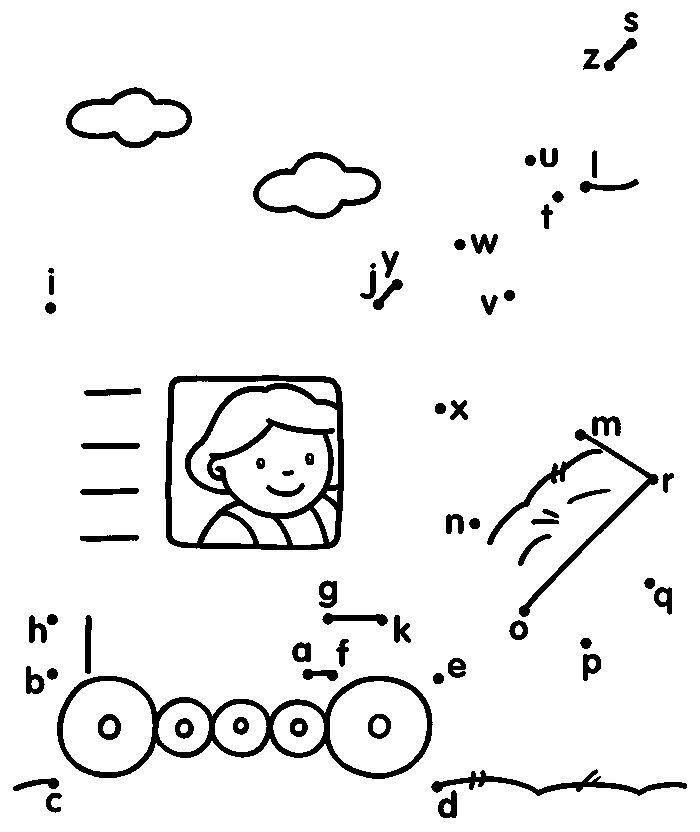 картинки по точкам по английскому алфавиту своей